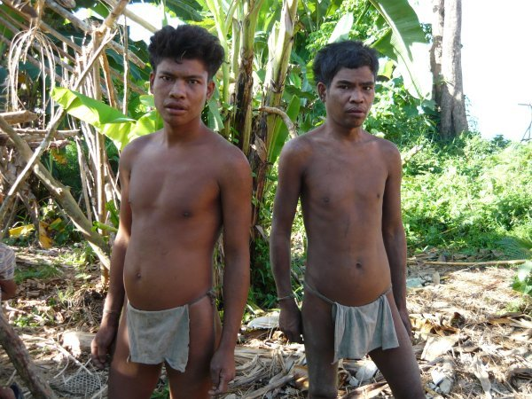 Two Batangan Mangyan men, interior Mindoro, the Philippines