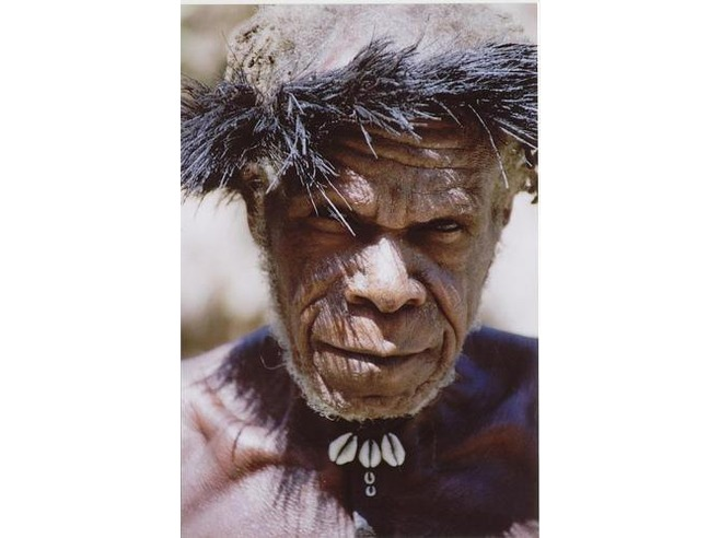 Man of the Lani tribe near Kimbim, Central Highlands, West Papua
