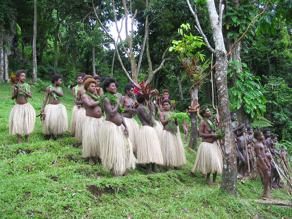 Villagers in the interior of South Pentecost, Vanuatu