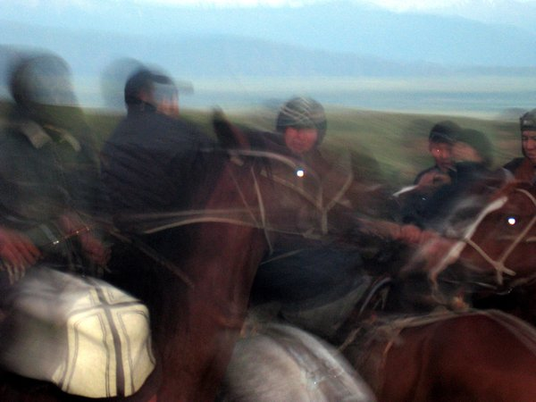 Herders playing Ulak in the Suusamyr Valley, Kyrgyzstan