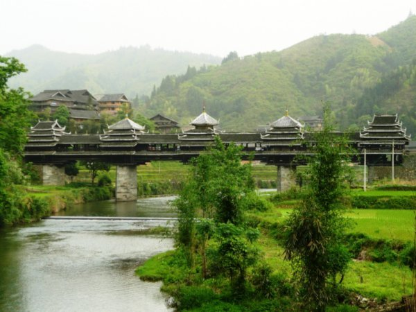 Chengyang Wind and Rain Bridge, Guanxi Province, South West China